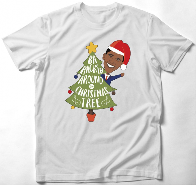 Karácsonyi Obamás póló