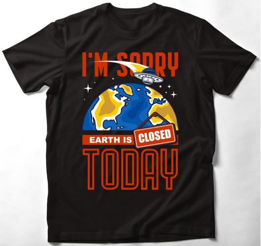 A Föld zárva tart póló