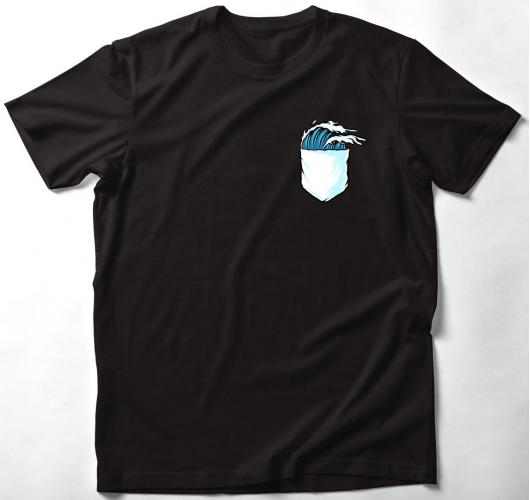 Hullámzás zsebmintás póló
