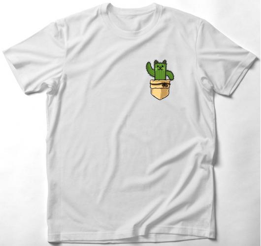 Macskás kaktuszos zsebmintás p...
