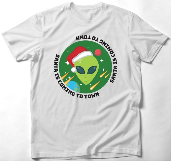 Ufós karácsonyi póló