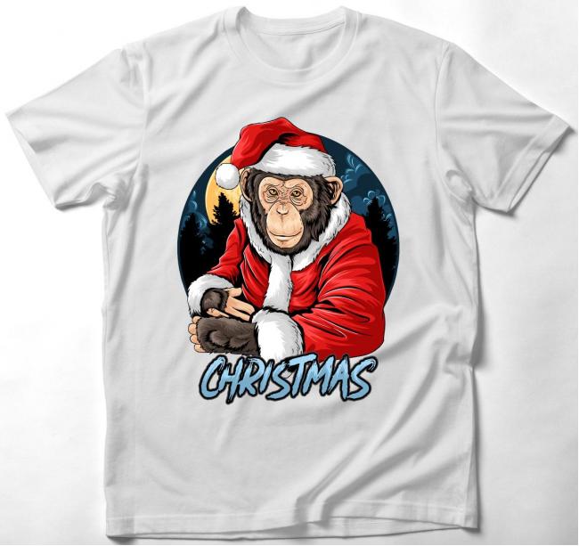 Csimpánz Mikulás póló