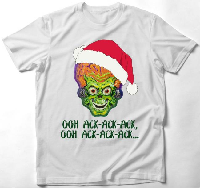Támad a Mars póló - karácsonyi...