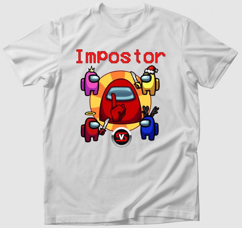 Among Us impostor 3 póló