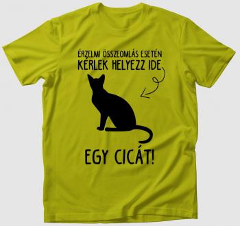 Vészhelyzeti terápiás macska póló