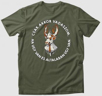 Menő szarvasos vadász póló