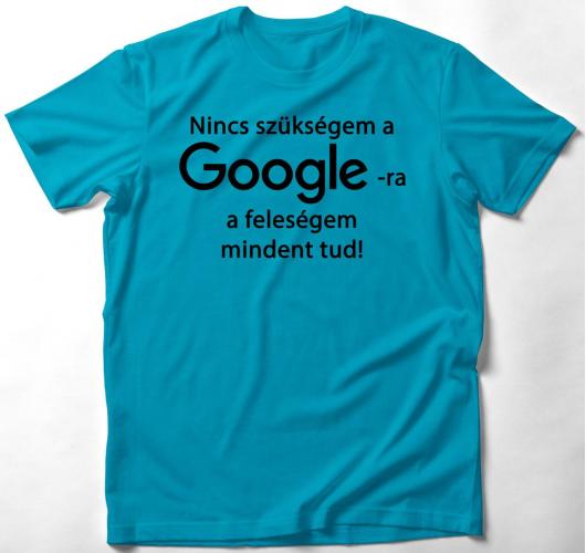 Google vs feleségem póló