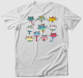 Öltönyös macskák póló