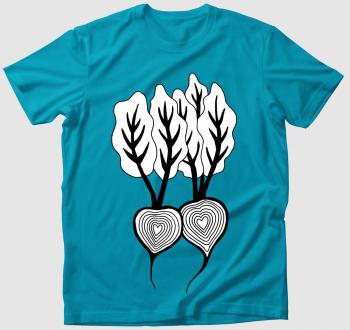 Cékla szív - színezhető póló