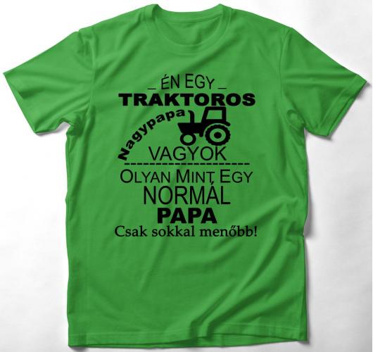 Traktoros papa póló