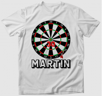 Dartsos Születésnapos póló ( válaszható névvel, választható számmal )