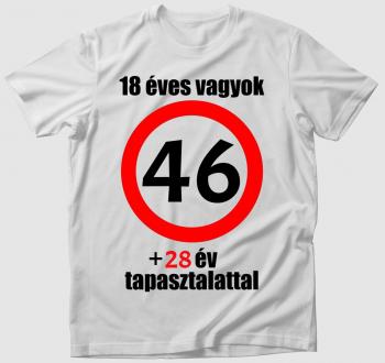 Születésnapos póló  - választható évszámmal/tapasztalattal -