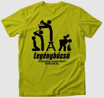 A legénybúcsú - Spártaiak Alakzatba - csapat póló