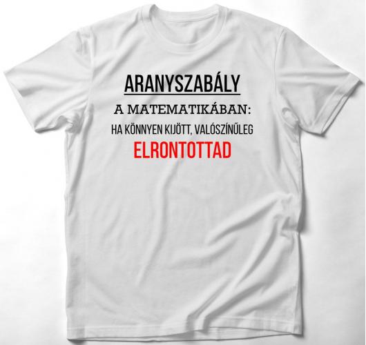 Könnyű matekfeladatos póló
