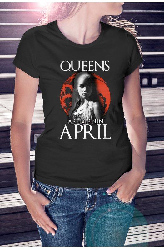 Game of Thrones Queens are born (választható hónap) póló