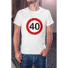 Stop Tábla Születésnapos Póló / válaszható számmal /