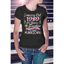 Sunshine and Hurricane Születésnapos Póló - egyedi hónappal, egyedi évszámmal -