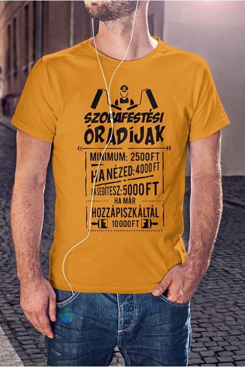 Szobafestő óradíjak póló
