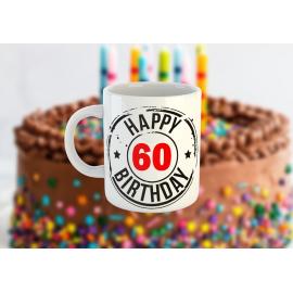 Happy Birthday - Születésnapos bögre (egyedi évszámmal)