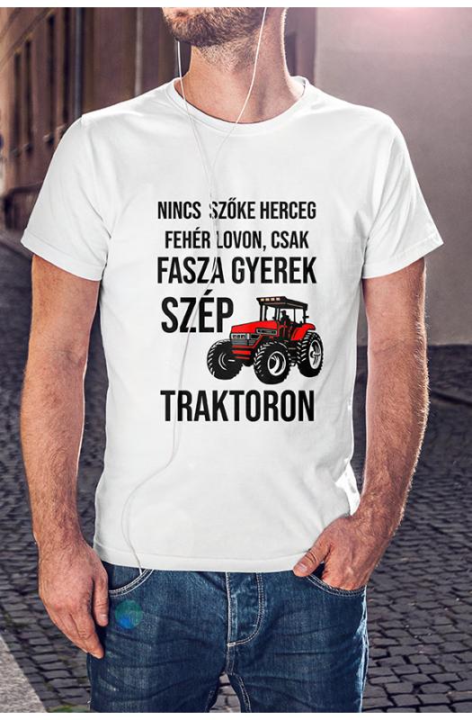 Traktoros faszagyerek póló