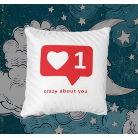 Crazy about you / Megőrülök érted párna