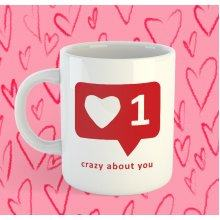 Crazy about you / Megőrülök érted bögre