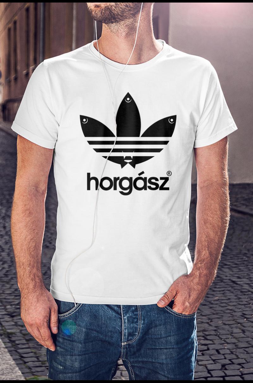 Adidasos horgász póló