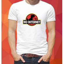 No internet Jurassic park style póló