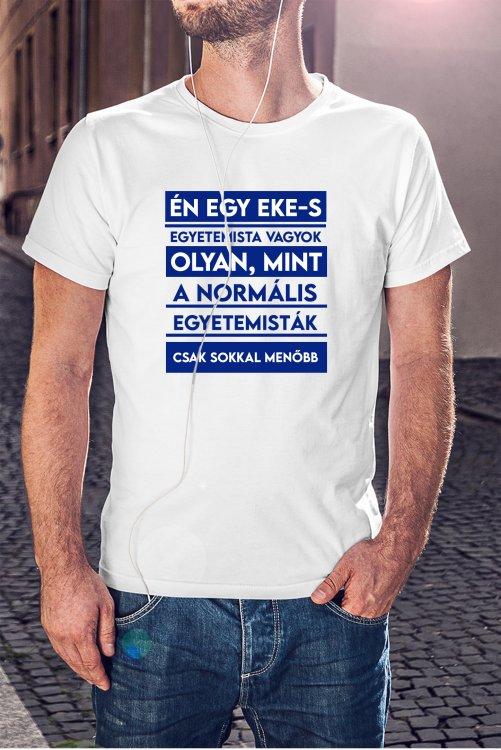 EKE Hallgató vagyok póló (kék)
