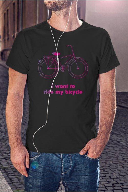 Biciklis póló - I want to ride my bicycle