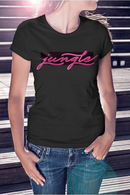 Jungle 3d feliratos póló