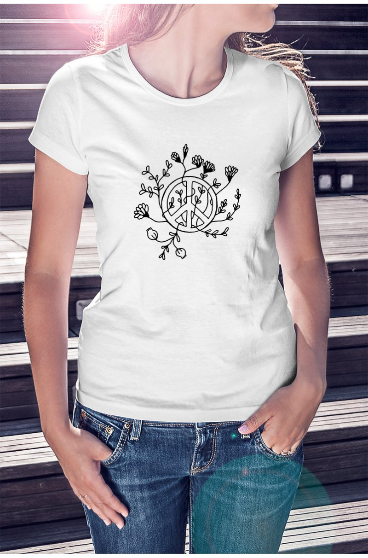 Békejeles monokróm póló
