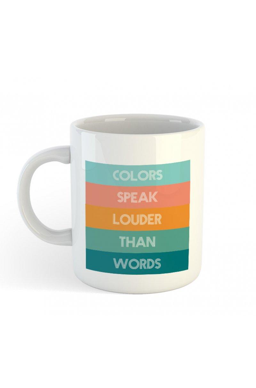COLORS SPEAK LOUDER THAN WORDS bögre