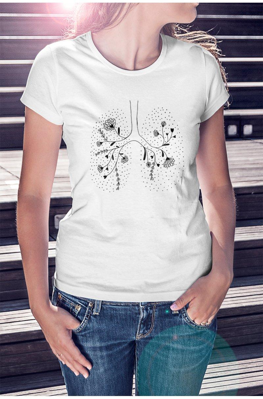 Lélegezz fel! monokróm póló